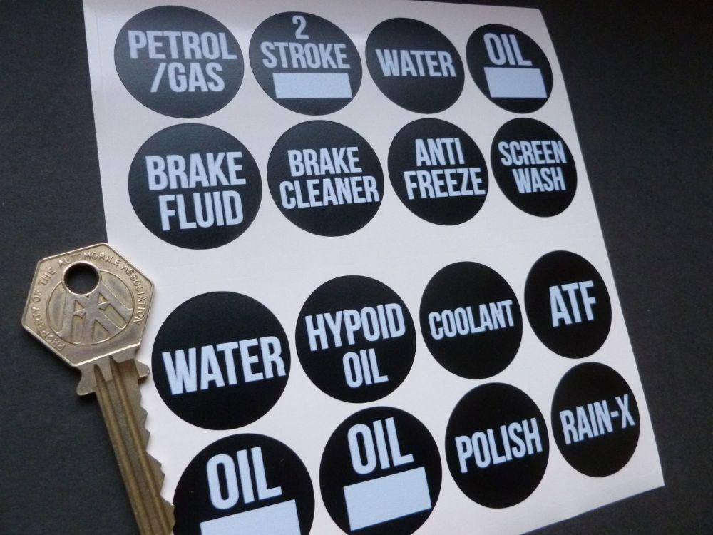 Workshop Fluid Label Stickers Set of 16.
