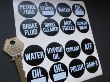 Workshop Fluid Label Stickers Set of 16.