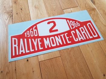"Rallye Monte-Carlo 1966 #2 Rally Plate Sticker. 16"". Slight Second 101."