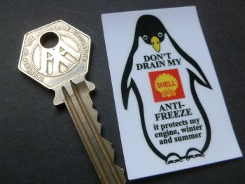 Shell Penguin Anti Freeze Window sticker 59mm