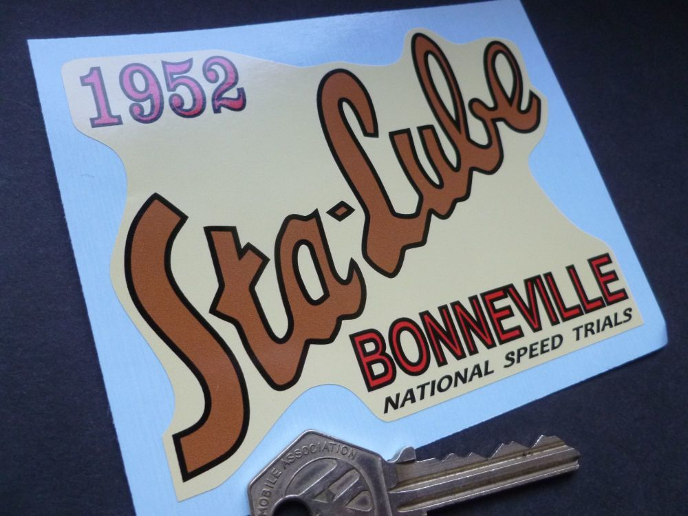 STA-LUBE Bonneville Salt Flats National Speed Trials 1952 Sticker. 4