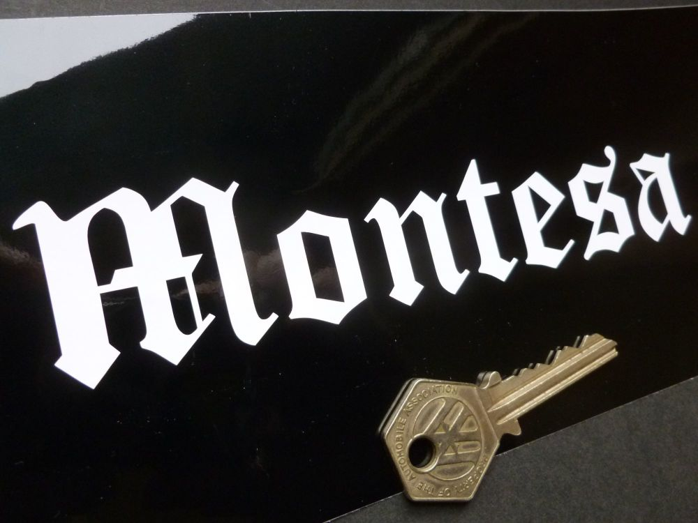 Montesa Cut Vinyl Text Style Sticker. 6.25""