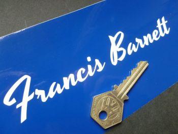 """Francis Barnett Script Style Cut Vinyl Text Sticker 6"""""""