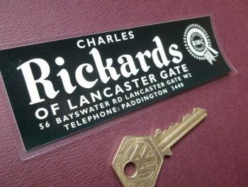 "Rickards of Lancaster Gate BMC Dealers Window Sticker  5""."