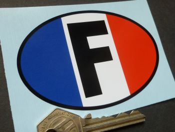 F  France Tricolore Style ID Plate Sticker 92mm