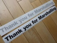 Thank You for Marshalling Cut Vinyl Race Car Sticker 19""