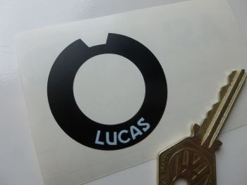 Lucas PLC 6 Ignition & Lighting Switch Round Sticker. 46mm.