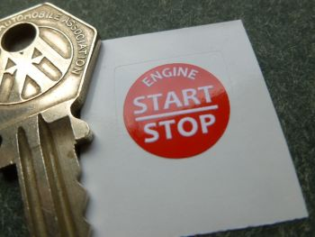 Bentley Engine Start Stop Button Sticker. 16mm. Choice of Colours.