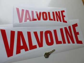 "Valvoline Waisted Banner Shaped Sticker. 18""."