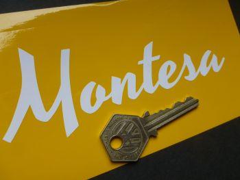 "Montesa Script Style Cut Vinyl Text Style Sticker. 5.5"""