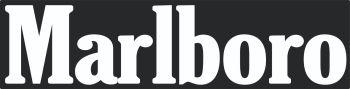 "Marlboro Cut Text Style C Sticker. 18""."