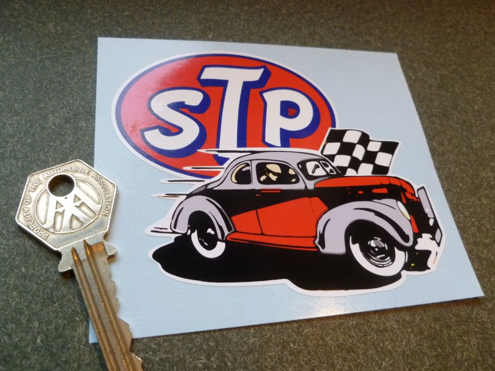 "STP Old Style Hot Rod Body or Window Sticker. 4""."