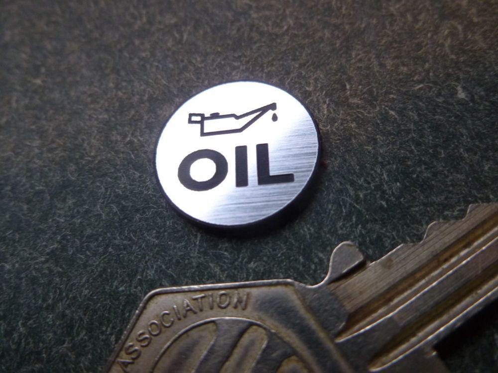 OIL Laser Cut Self Adhesive Badge. 18mm