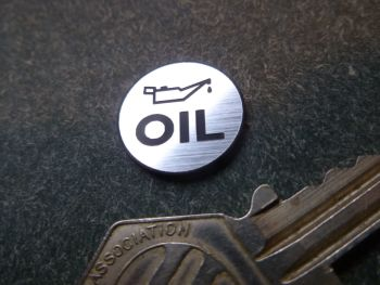 Oil Laser Cut Self Adhesive Badge. 18mm
