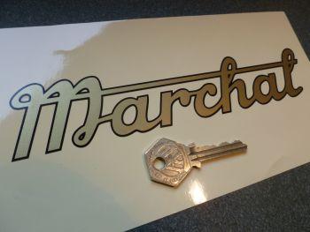 "Marchal Old Style Script Cut Vinyl Sticker 8"""