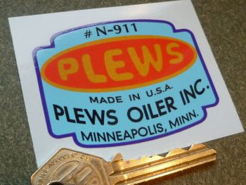 Plews Made in USA Oiler Funnel, Tun Dish Oil Can or Oiler Sticker. 2.5""
