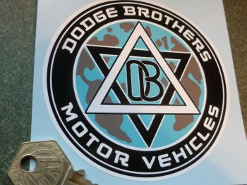 Dodge Brothers Motor Vehicles Window or Body Sticker. 4""