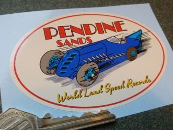 Pendine Sands World Land Speed Records Sticker.  4""