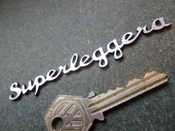 "Superleggera Script Laser Cut Self Adhesive Car Badge. 4""."