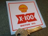 Shell X-100 Motor Oil Funnel/Jug/Tun Dish Sticker. 3