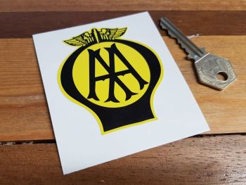 "AA Old Style Static Cling  Sticker - 3"" or 4"""