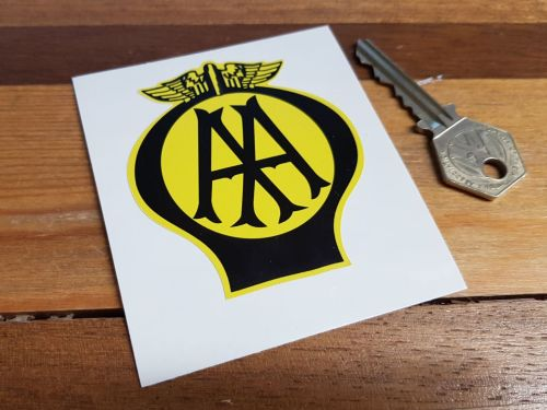 AA Old Style Static Cling  Sticker. 3