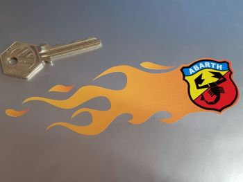 "Abarth Flames Handed Stickers. 6"" Pair."