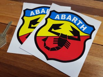 "Abarth & Co Tune Sport Shield Stickers. 3"" or 4"" Pair."