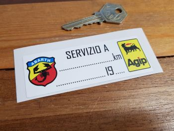 "Abarth Agip Service Sticker. 4""."