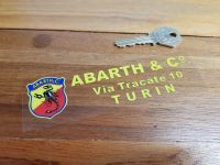 Abarth & Co Turin Dealer Window Sticker. 5.5