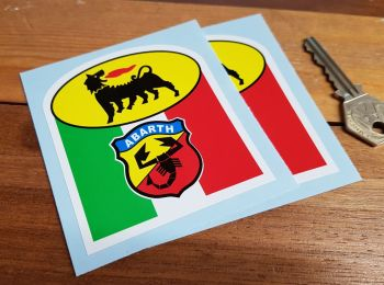 "Abarth Agip Stickers. 3"" Pair."