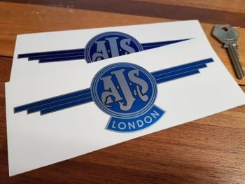 "AJS London Side Panel Style Sticker. 6.5""."