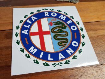 "Alfa Romeo Milano Garland Sticker. 6""."