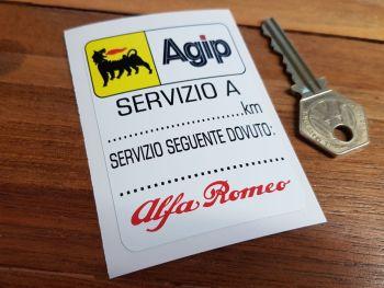 """Alfa Romeo & Agip Servizio A Service Sticker. 3""""."""