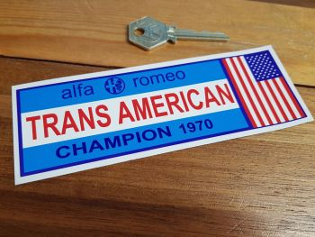"""Alfa Romeo Trans American Champion 1970 Sticker. 6""""."""