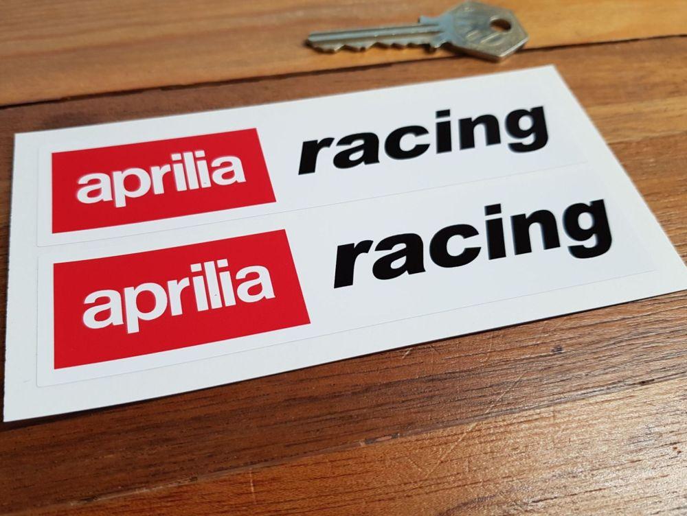 "Aprilia Racing Stickers. 5"", 7"" or 9"" Pair."