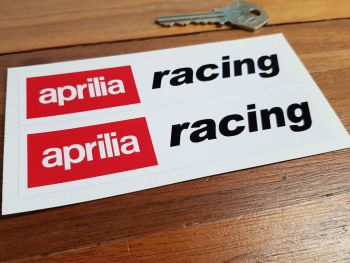 "Aprilia Racing Stickers. 5"", 7"" or 9"" Pair."