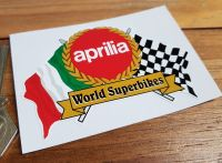 Aprilia World Superbikes Flag & Scroll Sticker. 4