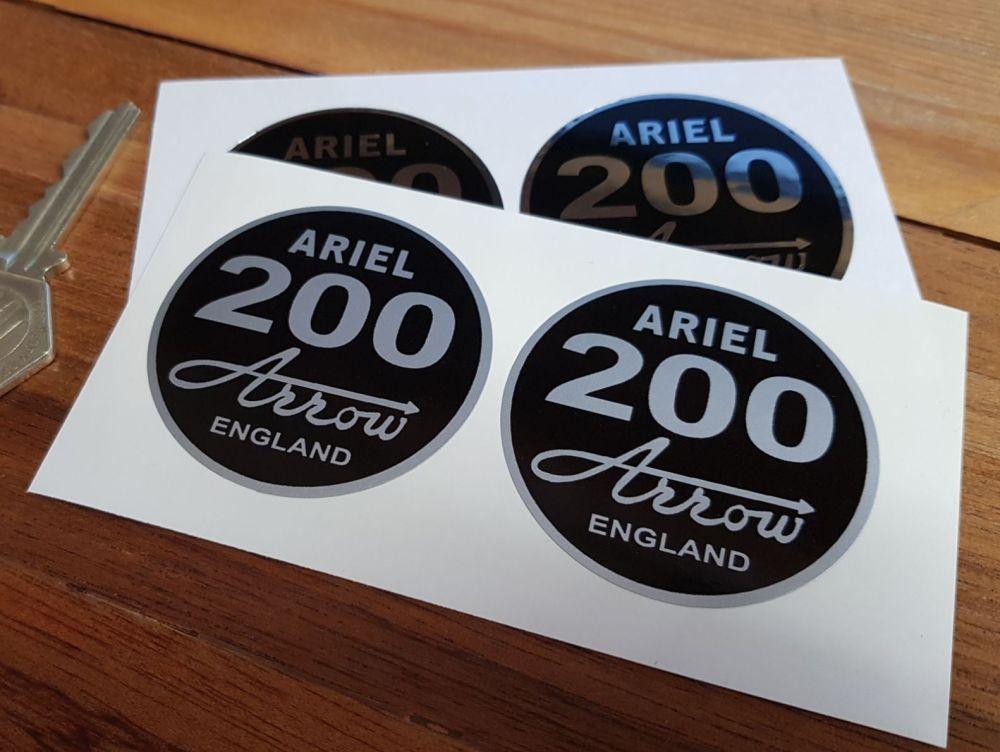 Ariel '200' Arrow. England. Circular Stickers. 2