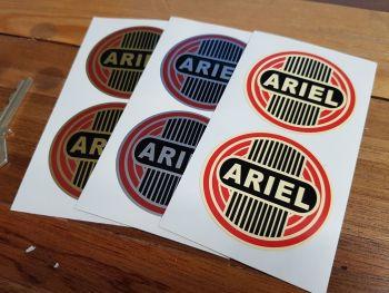 "Ariel Leader Arrow Hunter Square Circular Stickers. 2.25"" Pair."