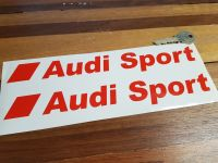 "Audi Sport Modern Text Cut Vinyl Stickers. 8"" or 9.5"" Pair."