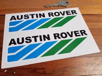 "Austin Rover Racing Stickers. 6"" Pair."