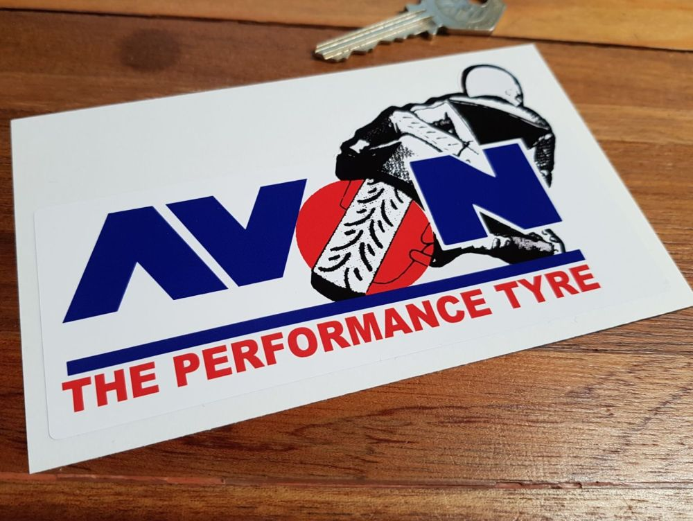 "Avon The Performance Tyre Motorcycle Sticker. 5.5""."