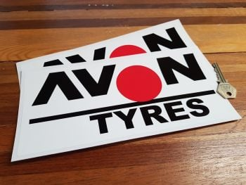 "Avon Tyres Large Spot Stickers. 10"" Pair."