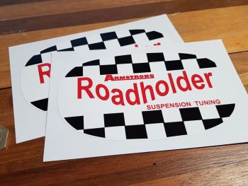 "Armstrong Roadholder Suspension Tuning Stickers. 6"" Pair."