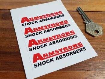 "Armstrong Shock Absorbers Stickers. Set of 4. 2.75""."