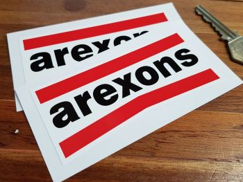"Arexons Shaped Oblong Stickers. 3.5"" or 4"" Pair."