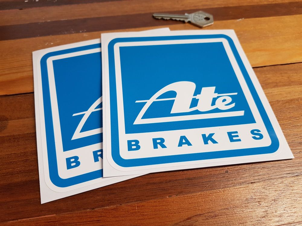 ATE Brakes Blue Square Stickers. 5