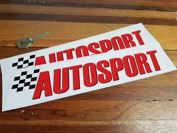 "Autosport Style Stickers. 10.75"" Pair."