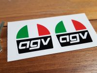 AGV Helmets Tri-Colour Stickers. 2